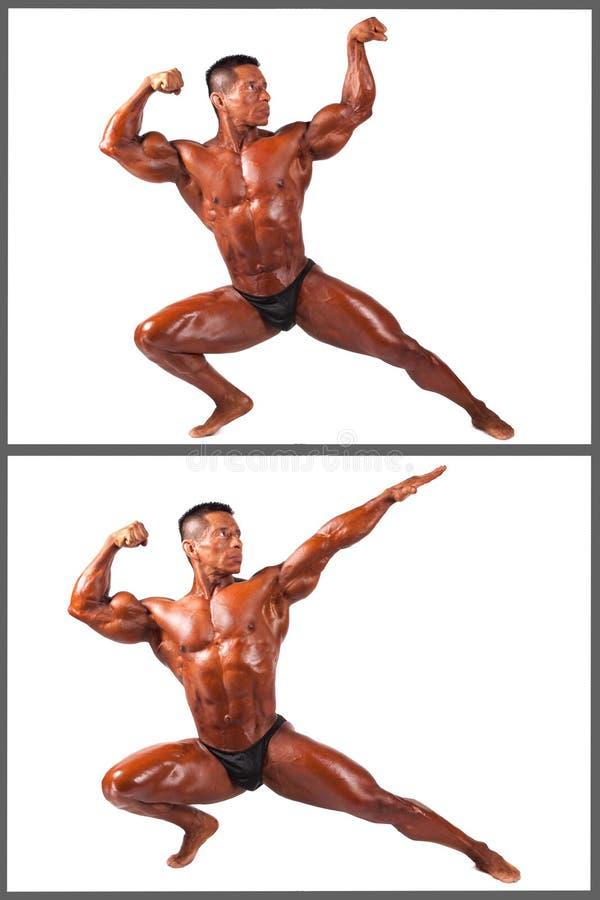 Latynoski sprawność fizyczna mężczyzna odizolowywający na bielu obraz stock