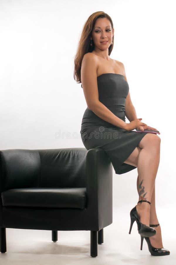 Latynoskiej brunetki biznesowa kobieta obrazy royalty free