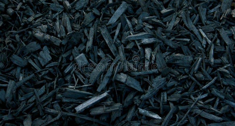 Laubdecken-schwarze dekorative Barke stockbilder