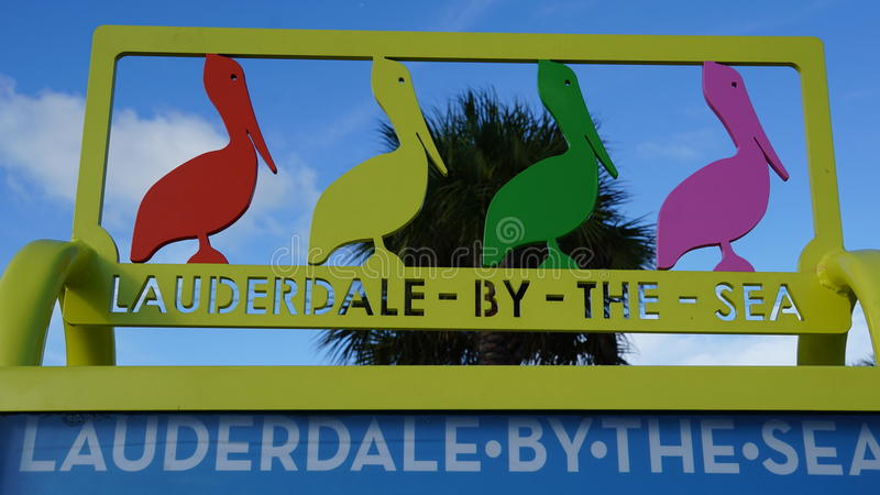Lauderdale-by-the-Sea in Florida. USA stock photos