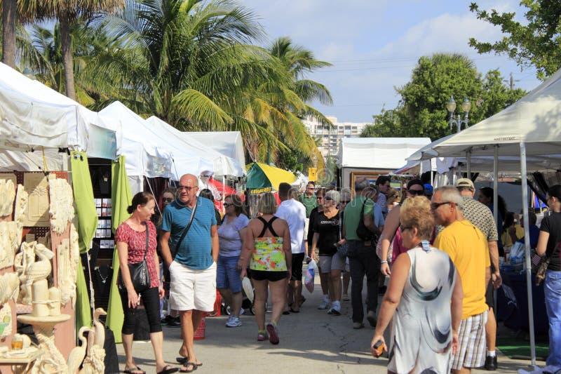 Festival del arte en Lauderdale por el mar, la Florida imágenes de archivo libres de regalías