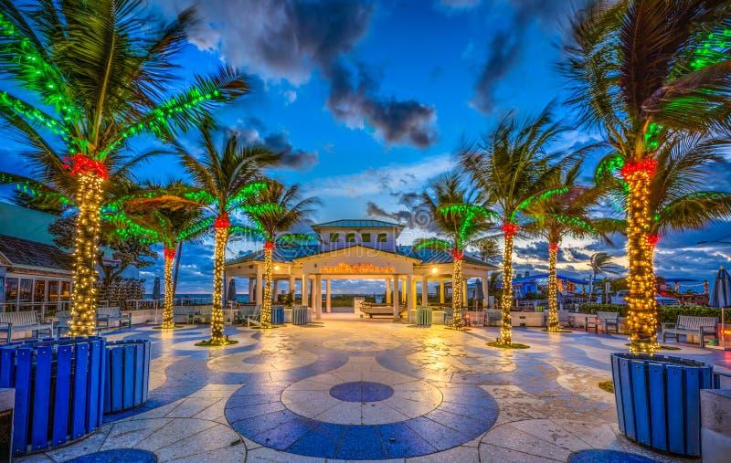 Lauderdale vid havet nära Fort Lauderdale Florida arkivbild