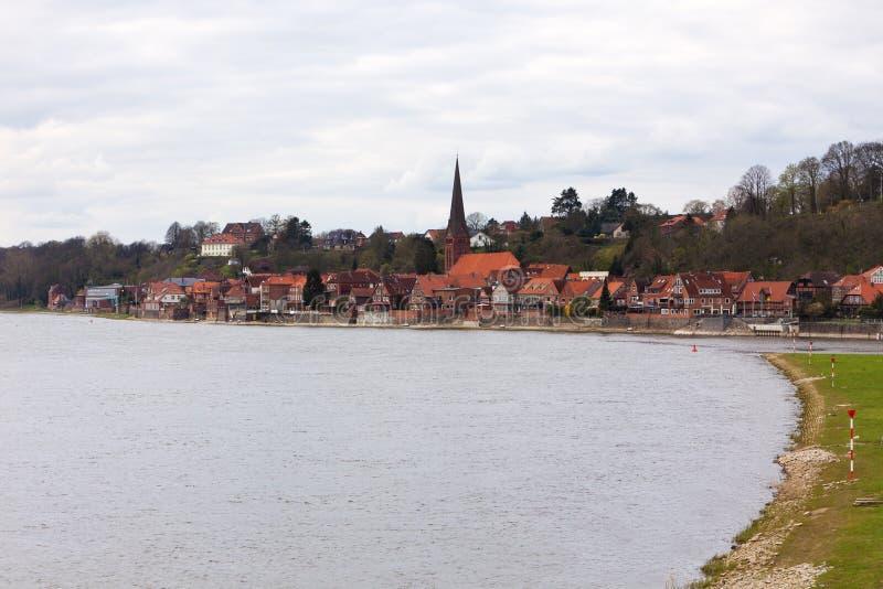 Lauenburg sur le fleuve d'Elbe photo libre de droits