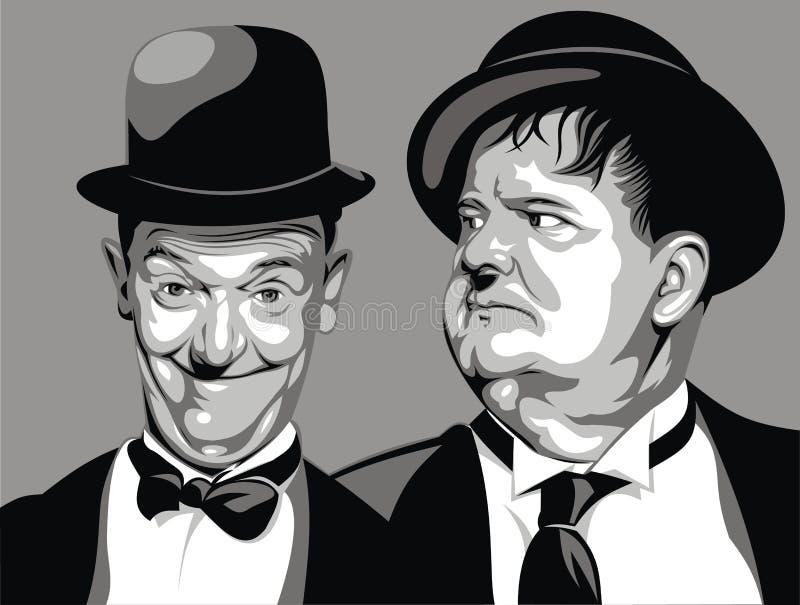 Lauer och härdat - min original- karikatyr stock illustrationer