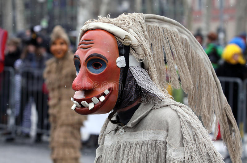 Laufar maska obraz stock
