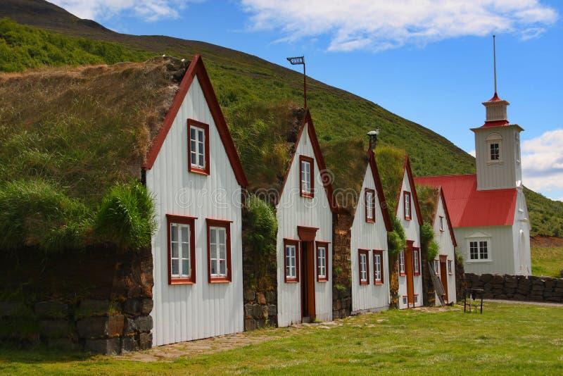 Laufas - la rectoría y la granja viejas fotografía de archivo