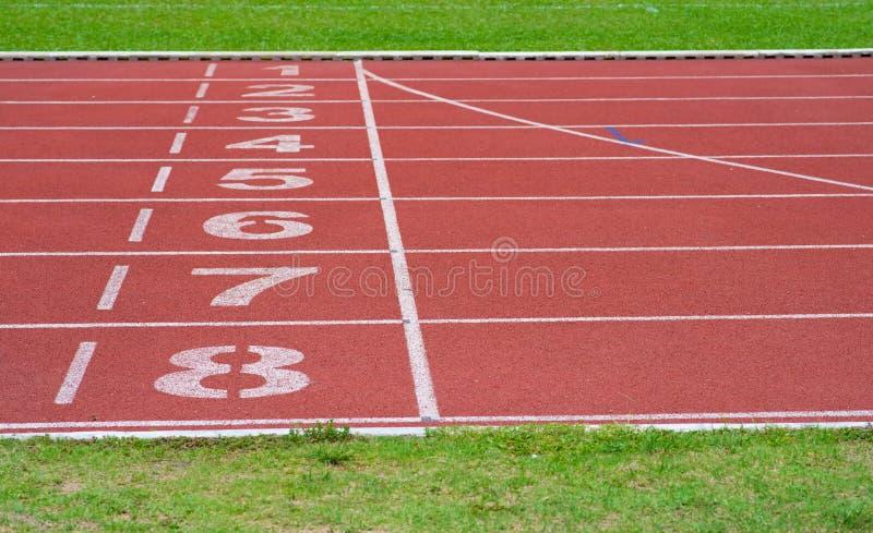 Laufbahn von Sport stockbild
