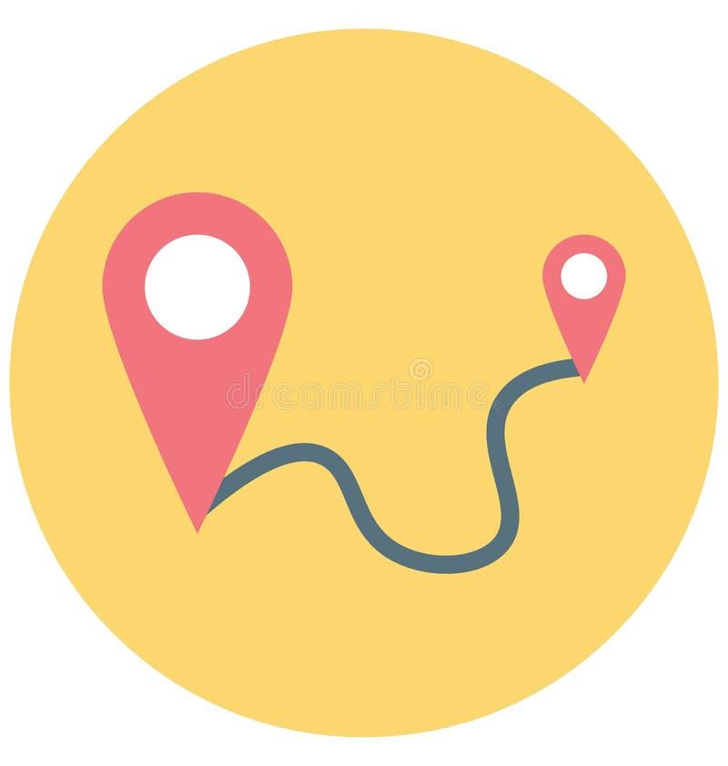 Laufdistanz-Illustrations-Farbvektor lokalisierter Ikone einfacher editable und spezieller Gebrauch für Freizeit, Reise und Ausfl stock abbildung