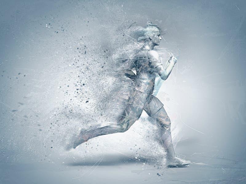 Laufen, abstrakt stockfoto