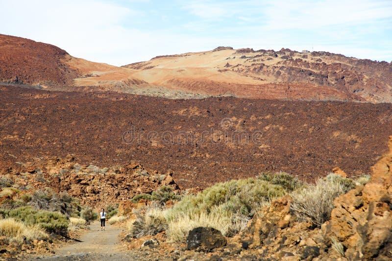Laufen auf Vulkan lizenzfreie stockfotos