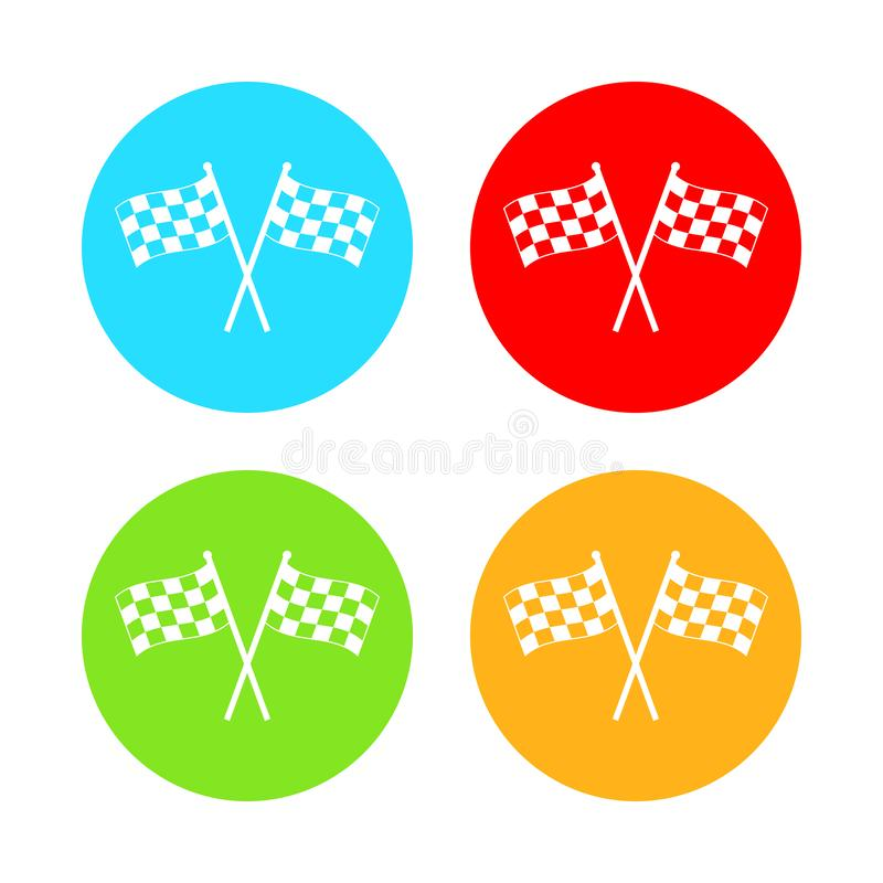 Laufen der Flaggenikone Vektorillustration, flaches Design vektor abbildung