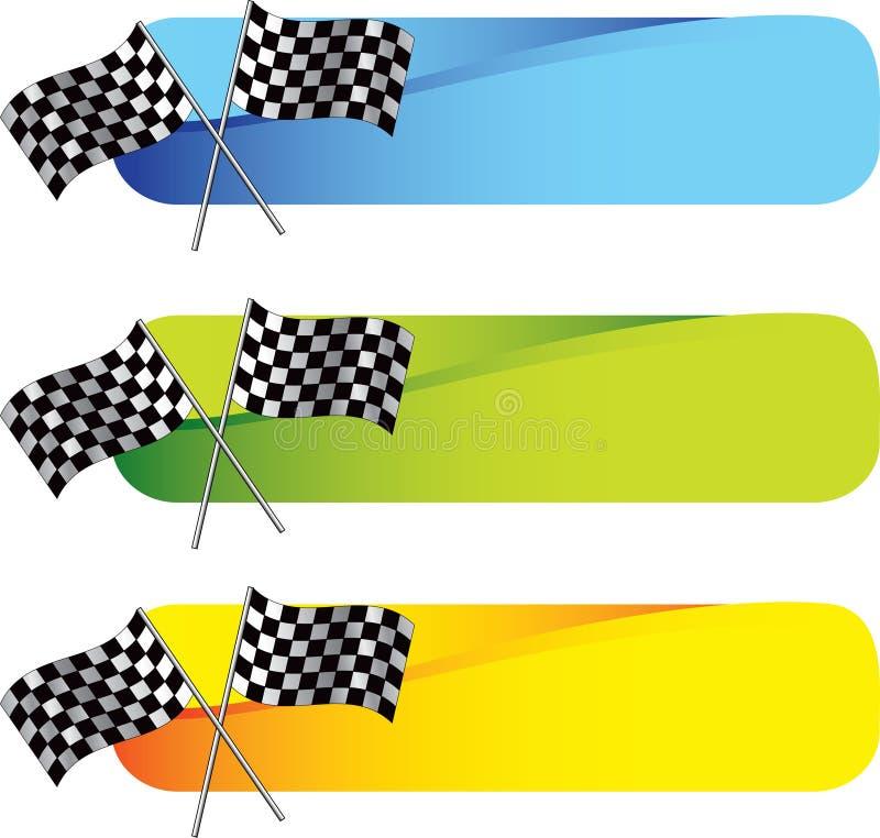 Laufen der Markierungsfahnen auf farbigen Tabulatoren lizenzfreie abbildung