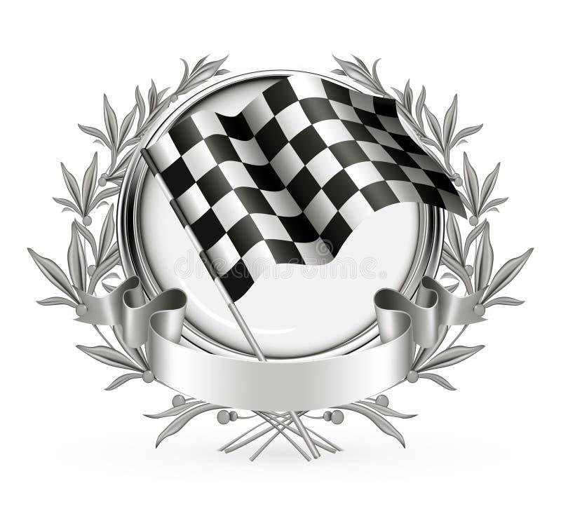 Laufen des Emblems stock abbildung