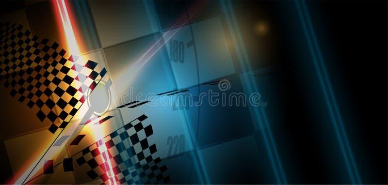 Laufen des Hintergrundes, Vektorillustrationsabstraktion im Auto lizenzfreie abbildung