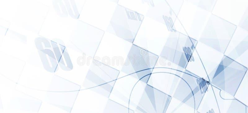 Laufen des quadratischen Hintergrundes, Vektorillustrationsabstraktion vektor abbildung