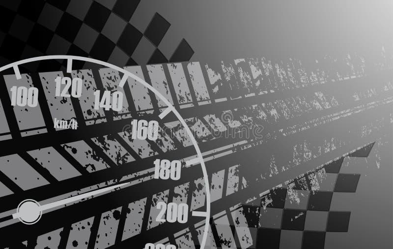 Laufen des quadratischen Hintergrundes, Vektorillustrationsabstraktion im rac vektor abbildung