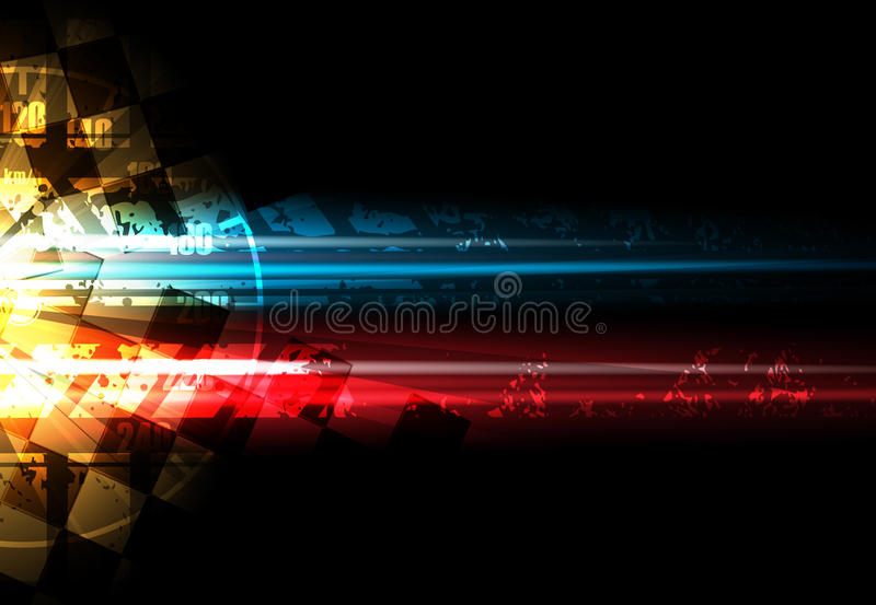 Laufen des quadratischen Hintergrundes, Vektorillustrationsabstraktion im rac lizenzfreie abbildung