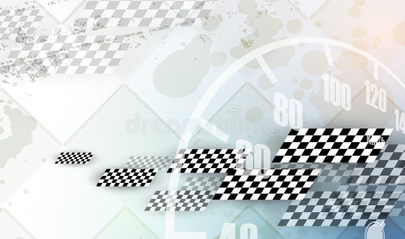 Laufen des quadratischen Hintergrundes, Vektorillustrationsabstraktion im rac stock abbildung