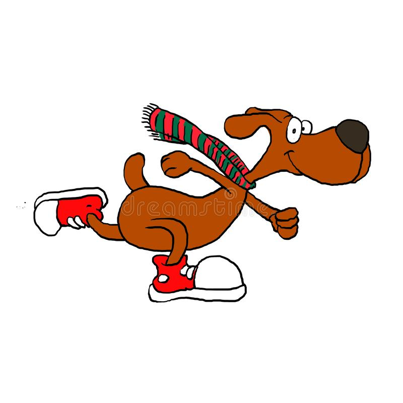 Laufen lieb lieb mit Schal stock abbildung