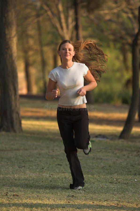 Laufen in Park stockfotografie