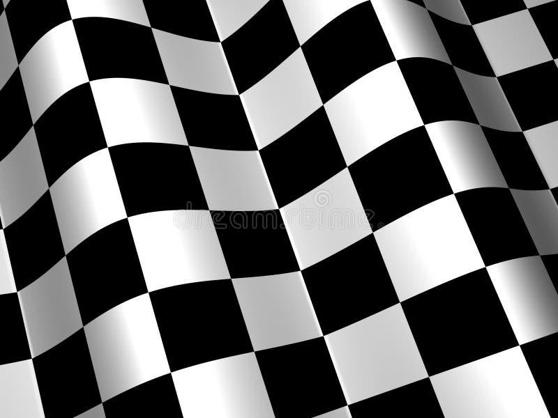 Laufen Rennen-des Checkered Markierungsfahnen-Hintergrundes lizenzfreie abbildung