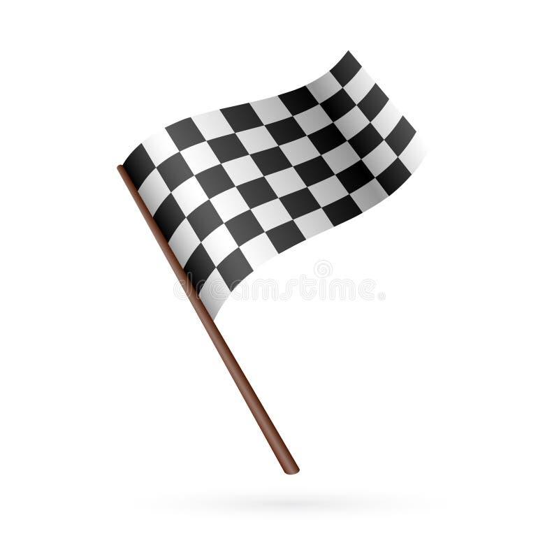 Laufen Sie Flaggen-Ikone vektor abbildung