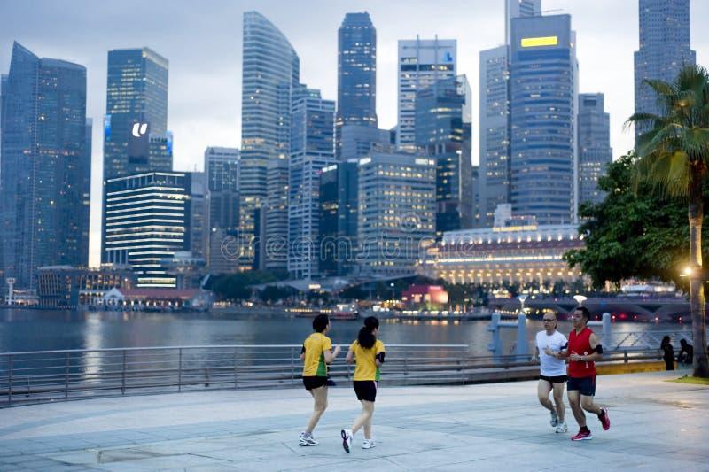 Laufen in Singapur lizenzfreies stockfoto