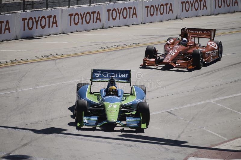 Laufen von Reihe Izod Indycar lizenzfreies stockfoto