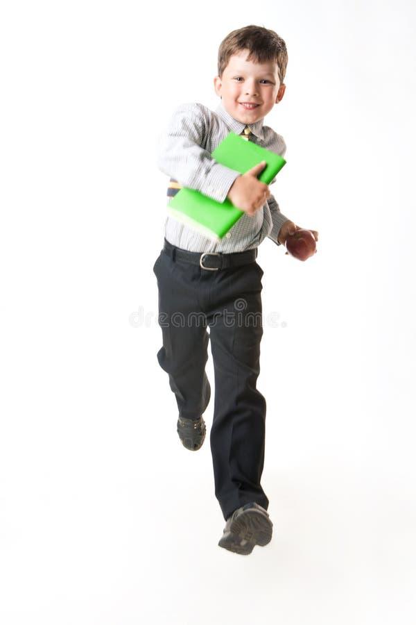 Laufen zur Schule lizenzfreies stockbild