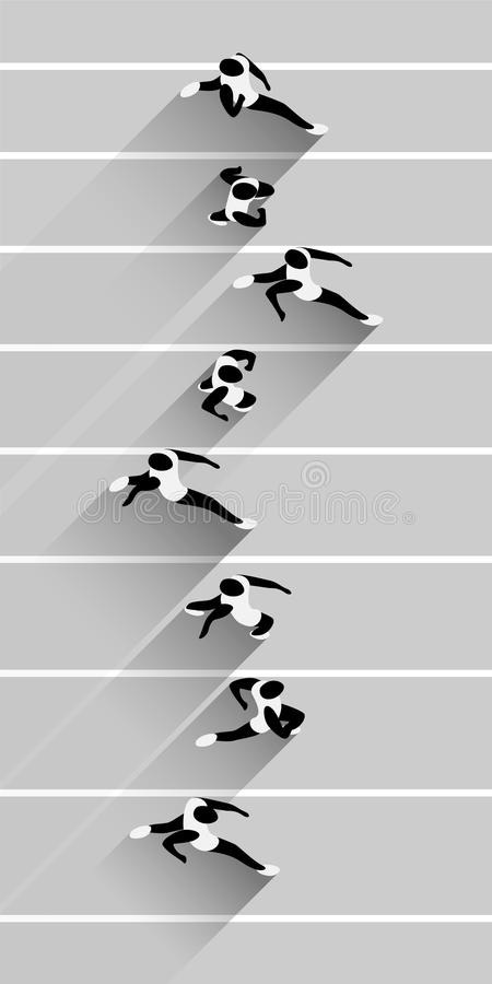Laufende Athleten vektor abbildung