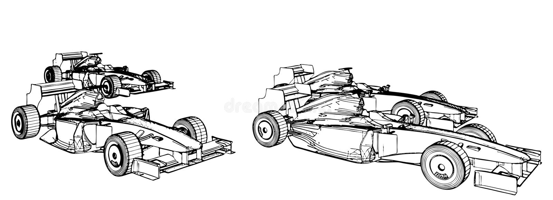 Laufende Autos im Rennen-Vektor 04 lizenzfreie abbildung