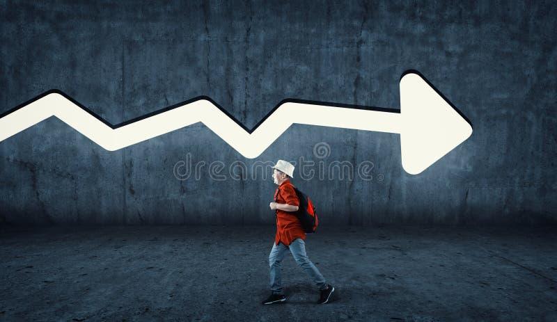Laufende entgegengesetzte Richtung stockfotografie