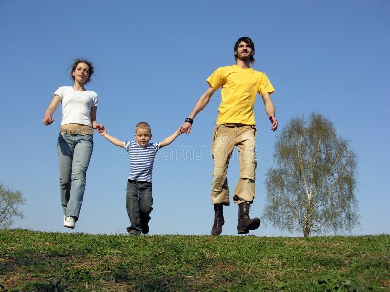 Laufende Familie lizenzfreie stockbilder