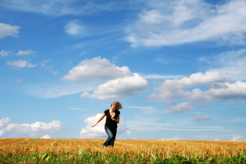 Laufende Frau stockfoto