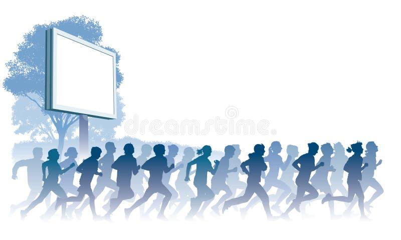 Laufende Leute vektor abbildung