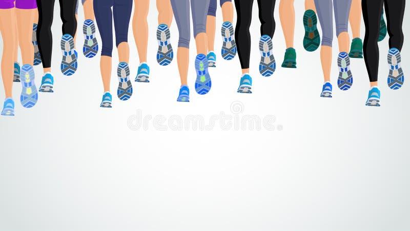 Laufende Leutebeine der Gruppe vektor abbildung