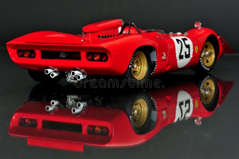 Laufende Motor- hintere Ansicht Ferraris 312P Spyder lizenzfreie stockfotos