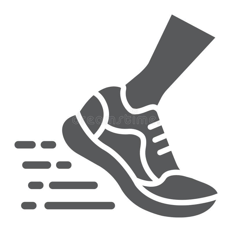 Sportschuhe Zeichnen Und Glyphikone, Fußbekleidung Und Schuh