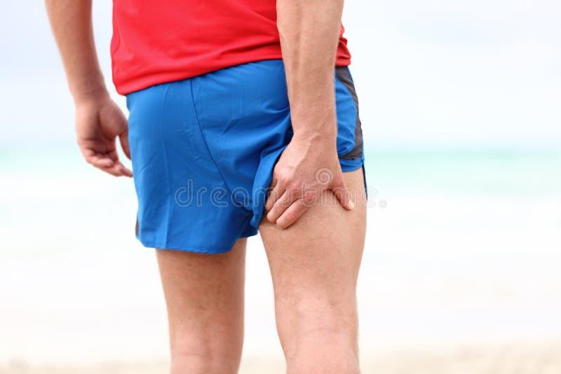 Laufende Sportverletzung lizenzfreies stockbild