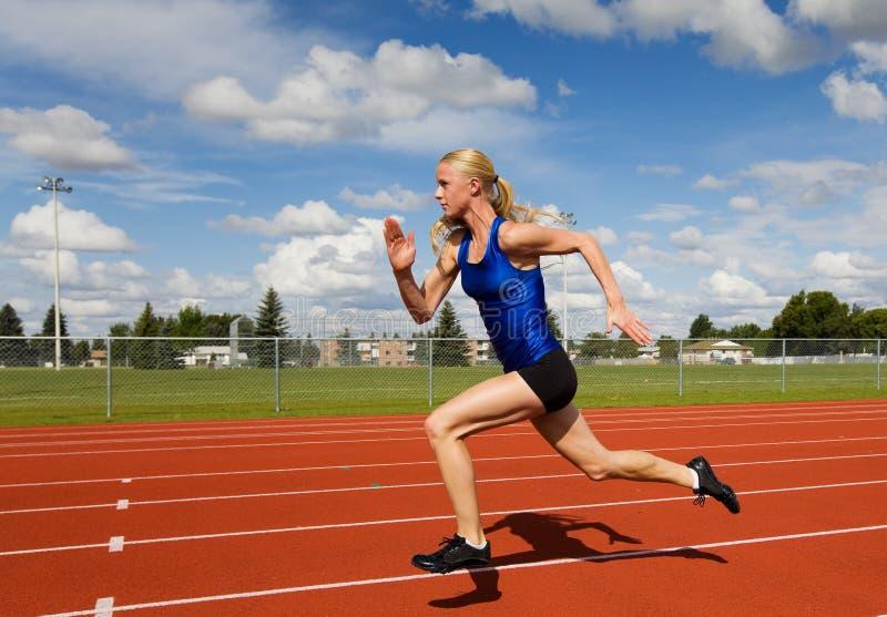 Laufender Athlet stockfotos