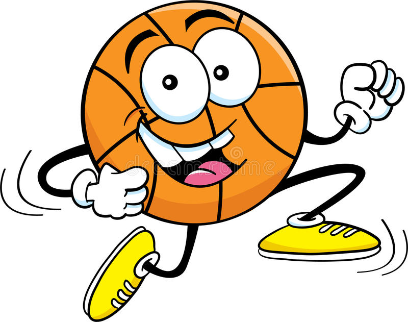 Laufender Basketball der Karikatur lizenzfreie abbildung