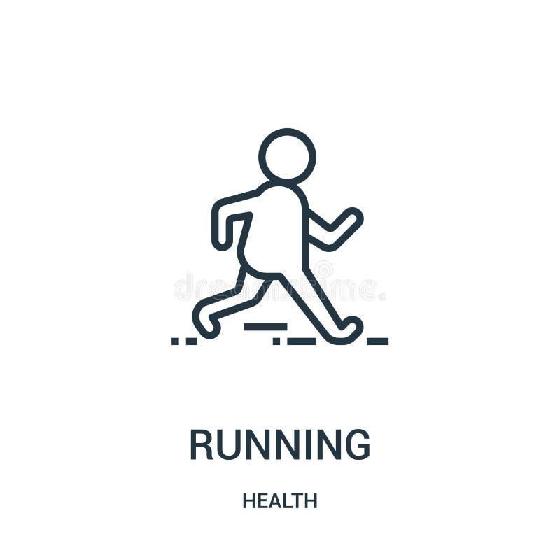laufender Ikonenvektor von der Gesundheitssammlung Dünne Linie laufende Entwurfsikonen-Vektorillustration Lineares Symbol für Geb lizenzfreie abbildung