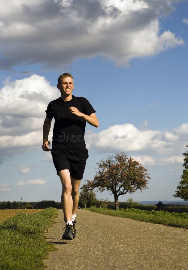 Laufender Mann lizenzfreies stockbild