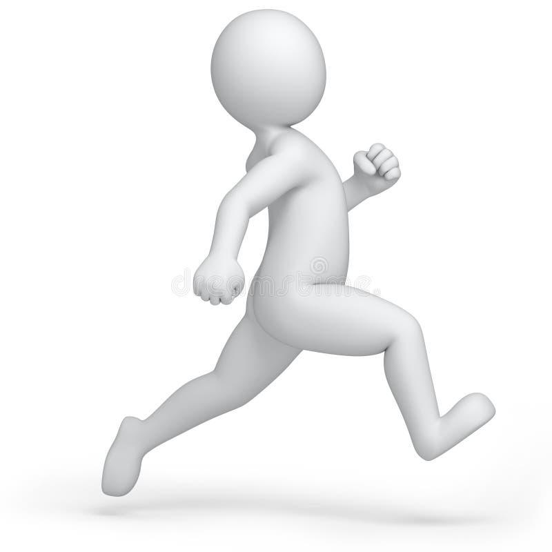 Laufender Mensch 3d stock abbildung. Illustration von galopp - 34601896
