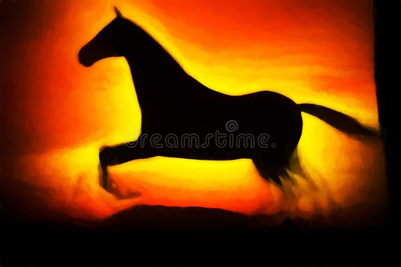 Download Laufender Pferdeillustrationshintergrund Stock Abbildung - Illustration von anstrich, pferd: 96925611