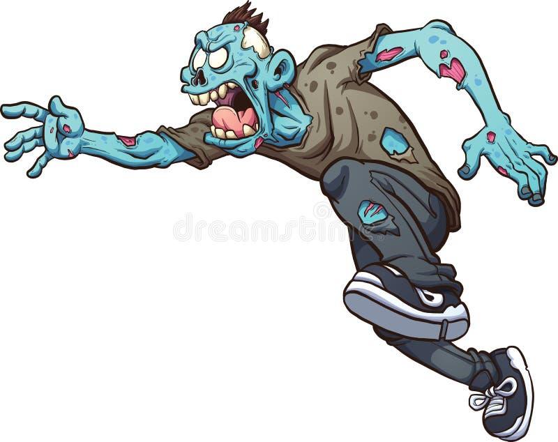 Laufender Zombie lizenzfreie abbildung