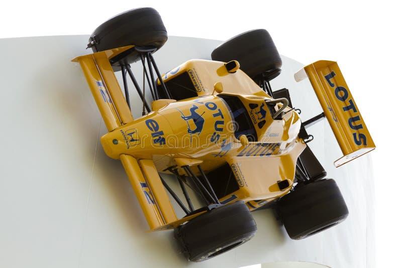 Laufendes Auto der Lotos-Formel 1 lizenzfreie stockbilder