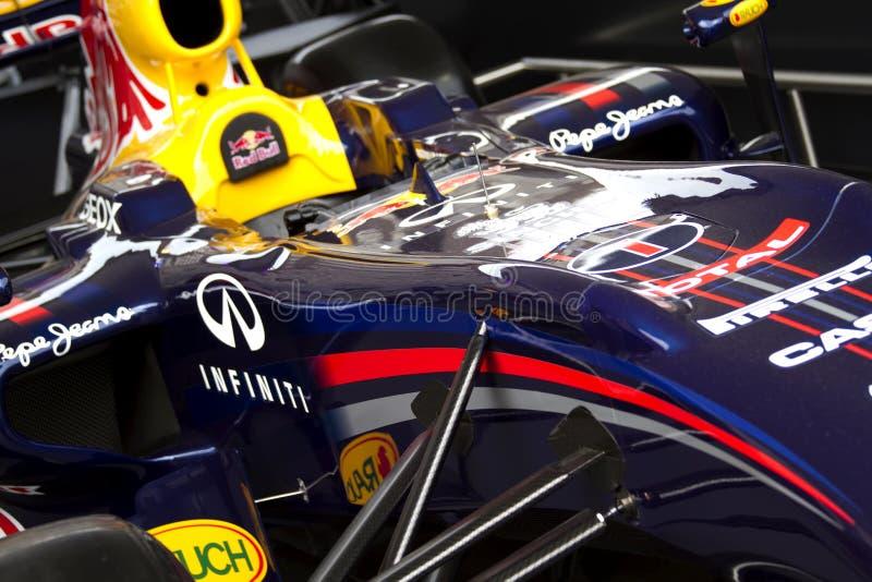 Laufendes Auto Red Bull-RB7 F1 lizenzfreies stockfoto