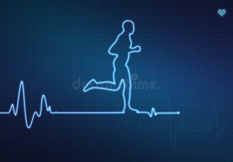 Laufendes gesundes Herz stock abbildung