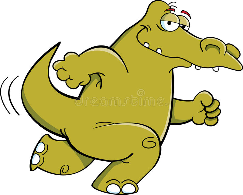 Download Laufendes Krokodil vektor abbildung. Illustration von lächeln - 26368411
